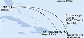 MSC Divina - USA, Portoriko, Panenské ostrovy (British), St. Maarten