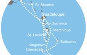 Costa Magica - Antily, Panenské ostrovy, Dominika, Trinidad a Tobago