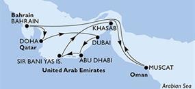 MSC Lirica - Arabské emiráty, Omán, Bahrajn, Katar
