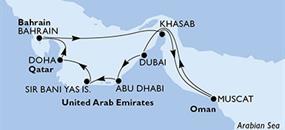 MSC Lirica - Arabské emiráty, Katar, Bahrajn, Omán