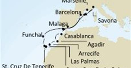 Costa neoRiviera - Itálie, Španělsko, Baleáry, Korsika (Francie)