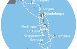 Costa Magica - Antily, Panenské ostrovy, Trinidad a Tobago