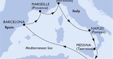 MSC Bellissima - Itálie, Malta, Španělsko, Francie (z Janova)