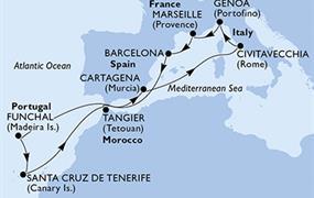MSC Sinfonia - Itálie, Francie, Španělsko, Portugalsko, Maroko (z Janova)