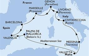 MSC Sinfonia - Itálie, Francie, Španělsko, Malta (z Janova)