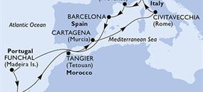 MSC Sinfonia - Itálie, Francie, Španělsko, Portugalsko, Maroko (z Civitavecchie)