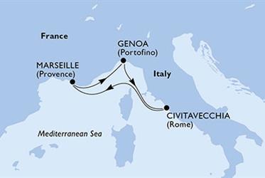 MSC Divina - Itálie, Francie (z Janova)