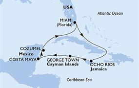 MSC Seaside - USA, Jamajka, Kajmanské ostrovy, Mexiko (z Miami)
