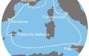 Costa Diadema - Itálie, Francie, Španělsko, Baleáry (ze Savony)