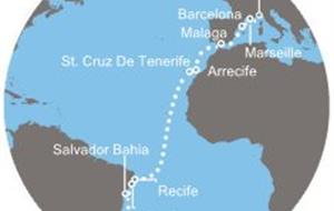 Costa Favolosa - Brazílie, Kanárské ostrovy, Španělsko, Francie, Itálie (Rio de Janeiro)
