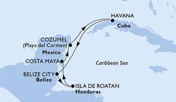 MSC Opera - Kuba, Belize, Honduras, Mexiko (Havana)