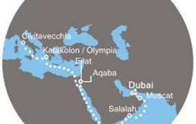 Costa Mediterranea - Arabské emiráty, Omán, Jordánsko, Izrael, Řecko, Itálie (Dubaj)