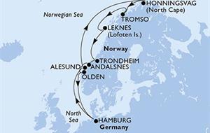 MSC Orchestra - Německo, Norsko (Hamburk)