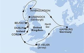 MSC Orchestra - Německo, Velká Británie, Irsko (Hamburk)