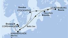 MSC Poesia - Dánsko, Německo, Švédsko, Estonsko, Rusko (Kodaň)