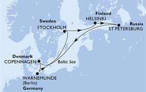 MSC Poesia - Dánsko, Německo, Švédsko, Finsko, Rusko (Kodaň)