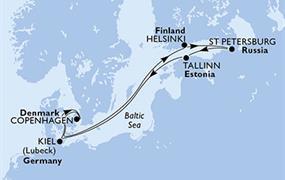 MSC Meraviglia - Německo, Dánsko, Finsko, Rusko, Estonsko (Kiel)