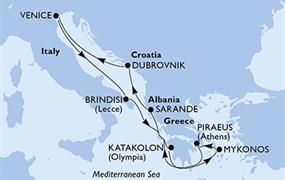 MSC Musica - Itálie, Řecko, Albánie, Chorvatsko (z Benátek)