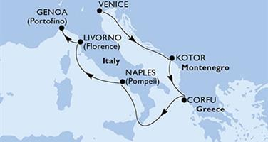 MSC Musica - Itálie, Černá Hora, Řecko (z Benátek)