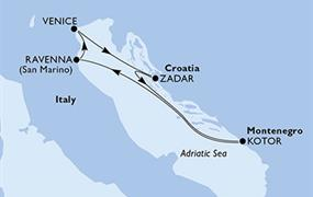 MSC Lirica - Itálie, Chorvatsko, Černá Hora (z Benátek)