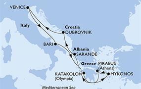 MSC Lirica - Itálie, Řecko, Albánie, Chorvatsko (z Benátek)