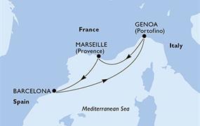 MSC Sinfonia - Itálie, Francie, Španělsko (z Janova)