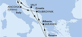 MSC Sinfonia - Itálie, Chorvatsko, Řecko, Albánie (z Benátek)