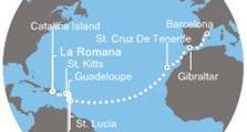 Costa Pacifica - Dominikán.rep., Antily, Kanárské ostrovy, Gibraltar, Španělsko (z La Romana)