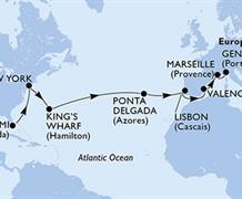 MSC Divina - USA, Bermudy, Portugalsko, Španělsko, Francie, Itálie (z Miami)