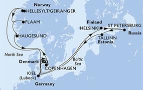 MSC Meraviglia - Německo, Dánsko, Norsko, Finsko, Rusko, Estonsko (Kiel)