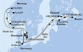 MSC Meraviglia - Německo, Dánsko, Finsko, Rusko, Estonsko, Norsko (Kiel)