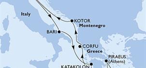 MSC Magnifica - Itálie, Řecko, Černá Hora (z Benátek)