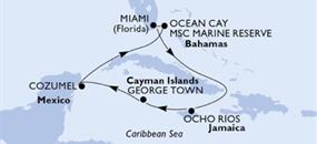MSC Seaside - USA, Jamajka, Kajmanské ostrovy, Mexiko, Bahamy (z Miami)