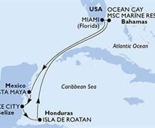 MSC Meraviglia - USA, Mexiko, Belize, Honduras, Bahamy (z Miami)