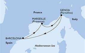 MSC Bellissima - Španělsko, Francie, Itálie (z Barcelony)