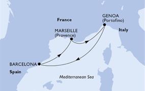 MSC Divina - Itálie, Španělsko, Francie (z Janova)