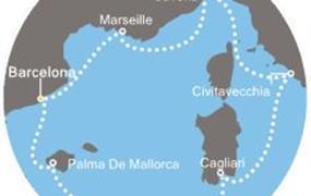 Costa Diadema - Španělsko, Baleáry, Itálie, Francie (z Barcelony)