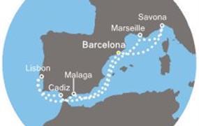 Costa Favolosa - Španělsko, Itálie, Francie, Portugalsko (z Barcelony)