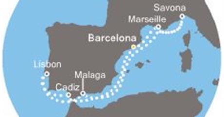 Costa Favolosa - Španělsko, Francie, Itálie, Portugalsko (z Barcelony)