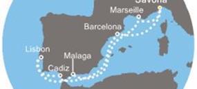 Costa Favolosa - Itálie, Francie, Španělsko, Portugalsko (ze Savony)