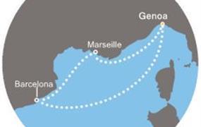 Costa Fortuna - Itálie, Francie, Španělsko (z Janova)