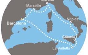 Costa Fascinosa - Španělsko, Francie, Itálie, Malta (z Barcelony)