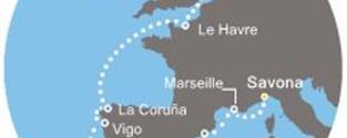 Costa Mediterranea - Itálie, Francie, Španělsko, Portugalsko, Anglie (ze Savony)