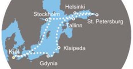 Costa Pacifica - Německo, Polsko, Litva, Estonsko, Rusko, Finsko, Švédsko (Kiel)