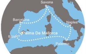 Costa Fascinosa - Baleáry, Španělsko, Itálie (Palma de Mallorca)