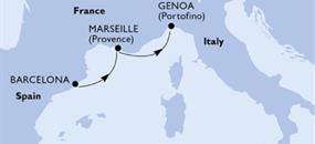 MSC Meraviglia - Španělsko, Francie, Itálie (z Barcelony)