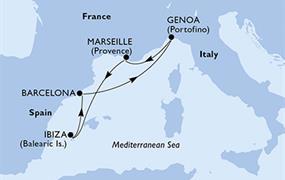 MSC Orchestra - Španělsko, Itálie, Francie (z Barcelony)