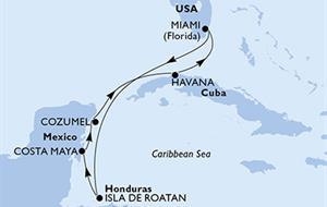 MSC Armonia - USA, Honduras, Mexiko, Kuba (z Miami)