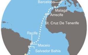 Costa Favolosa - Brazílie, Kanárské ostrovy, Španělsko, Francie (Rio de Janeiro)