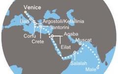 Costa Victoria - Itálie, Řecko, Jordánsko, Izrael, Omán, Maledivy (z Benátek)